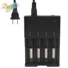S4 4-Slot Universal Smart Battery Charger for Li-ion & Ni-MH & Ni-Cd 18650 10440 14500 14650 16340 17670 18350 18500 Batteries