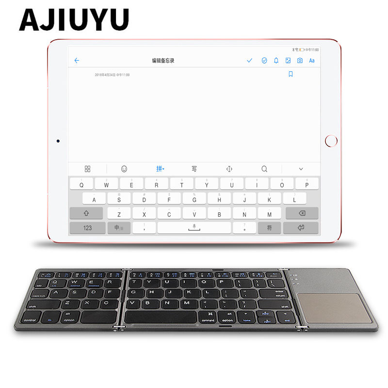 Three folded Wireless Bluetooth Keyboard For Apple iPad Pro 10.5 inch 9.7 12.9 Pro10.5 Pro9.7 inch New 2017 2018 Tablets Case three folded wireless bluetooth keyboard for lenovo ideapad miix 310 320 miix310 miix320 miix325 miix210 10 1 tablets pc case