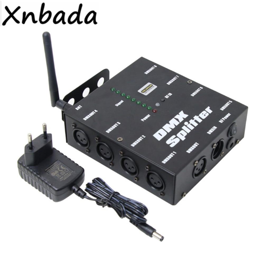 8 canali DMX512 Amplificatore di Segnale Splitter 8 Vie Distributore DMX Per Le Luci di Scena8 canali DMX512 Amplificatore di Segnale Splitter 8 Vie Distributore DMX Per Le Luci di Scena