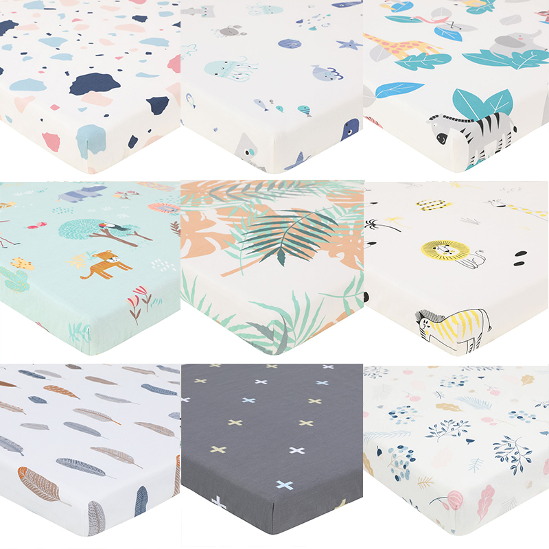 Comfortable Baby Mattress Cover Baby Fitted Sheet Print For Crib Customized Baby Crib Fitted Sheet Soft Baby Bed Sheet 130*70