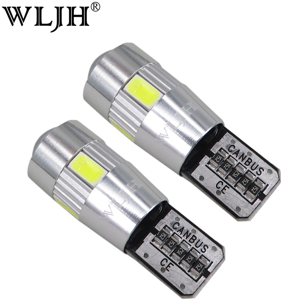 WLJH 2x Canbus Car LED T10 W5W No Error 5630 Chips for VW Golf 5 6 Polo Jetta Bora Passat 3C CC B7 تيغوان إيوس AUDI BMW Benz