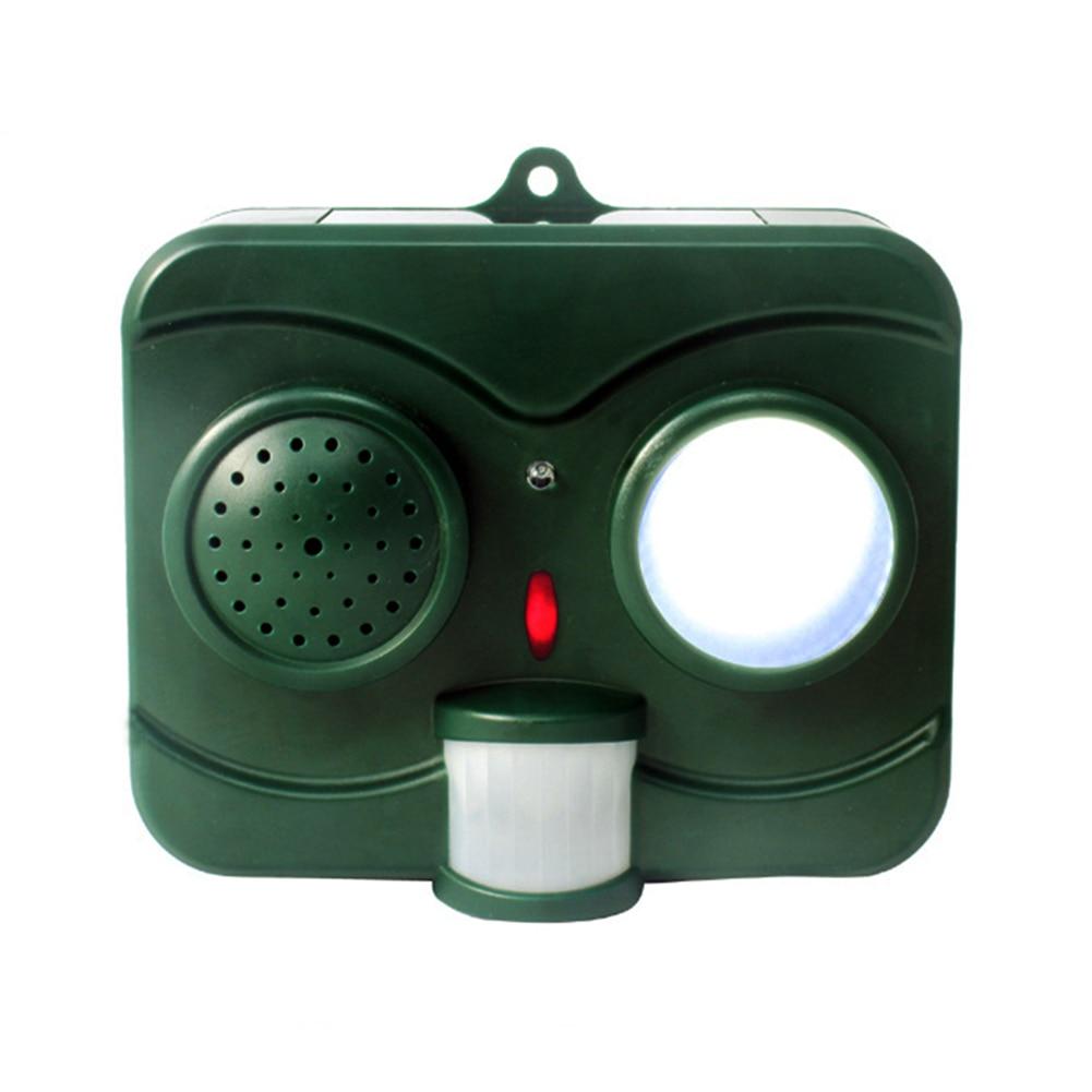 Bird Repellent Infrared Acoustooptic Solar Panel Animal Repeller Outdoor Portable Waterproof