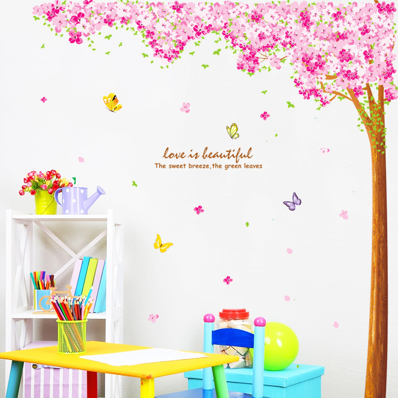 Pink Cherry Blossoms Vinyl Wall Sticker 18