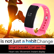 New(Pink) V66 Smart Band Intelligent Bracelet for IOS Android 0.66″ OLED Screen Bluetooth 4.0 Sport Pedometer Smart Wristband