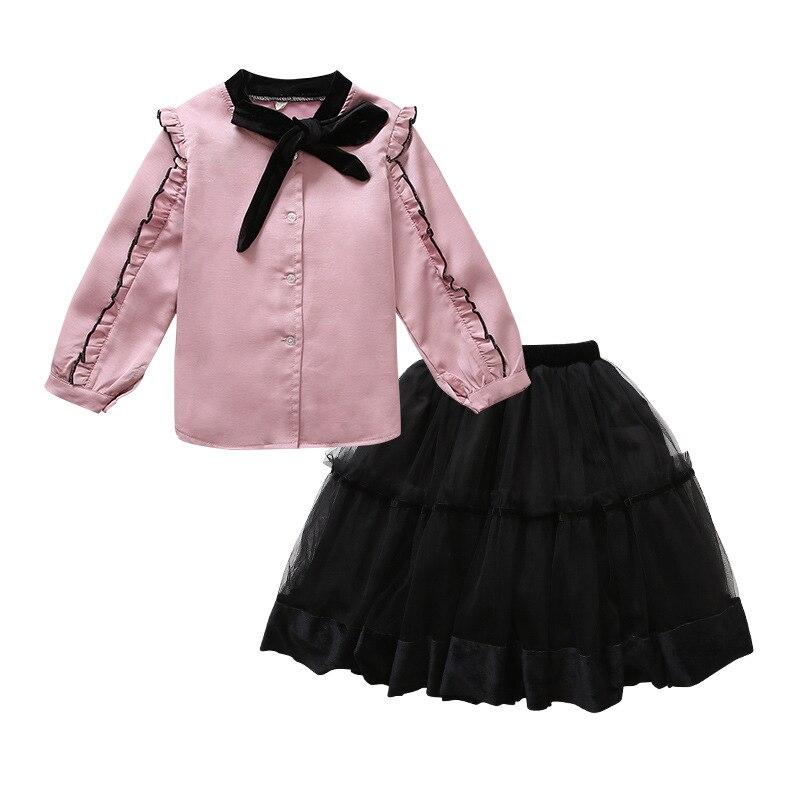 Toddler Girls Spring Clothes Set 2019 Girls Kids Clothes Set 2 Pcs Girls Clothing Sets For Teenage Suits Blouses Shirts + Skirts 5