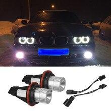 2 предмета в комплекте, для BMW E60 525i 525xi 530i 530xi 545i 550i M5 5 серии без ошибок OBC Автомобильный светодиодный Ангельские глазки габаритных огней лампо...