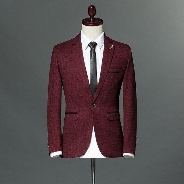 7c697d1a6a0f Slim Fit Leisure Blazer Men 2018 Fashion Solid Color Office Formal Jaqueta  Masculino M-3XL