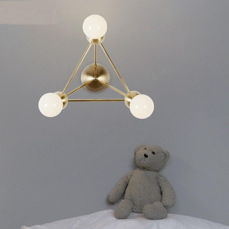 Nordic 3 Heads Wall Lamps Creative Living Room Aisle