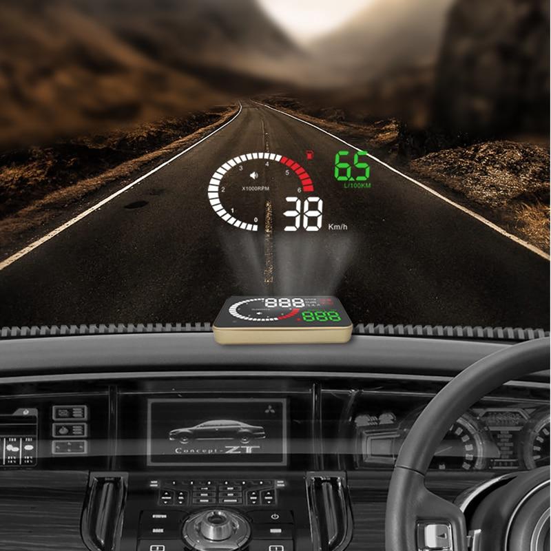 YASOKRO Car OBD2 HUD Head Up Display X6 Car Speedometer Windshield Projector Over Speed Voltage Alarm Car Accesories