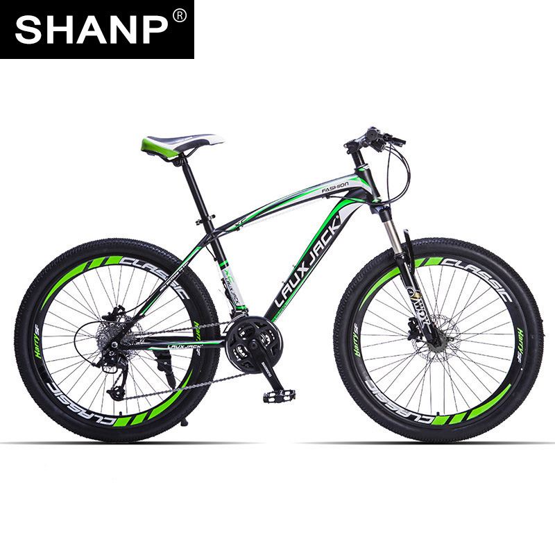 LAUXJACK Mountain Bike Steel Frame 24 Speed Shimano 26 Wheel lauxjack mountain fat bike steel frame