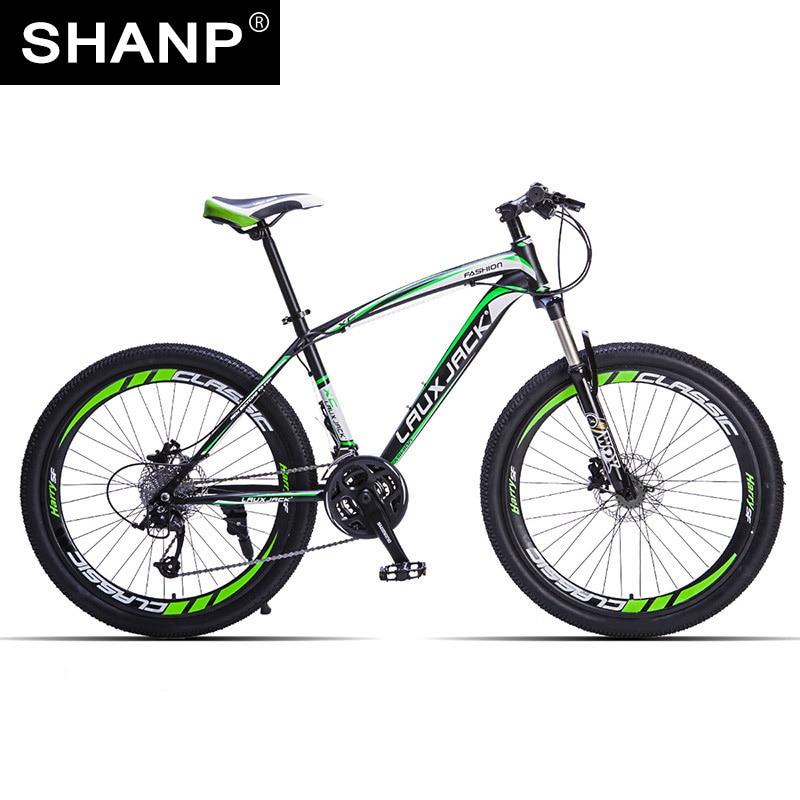 LAUXJACK Mountain Bike Steel Frame 24 Speed Shimano 26 Wheel lauxjack mountain bike aluminium frame