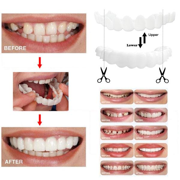 Teeth Cosmetic Denture Teeth Whitening Snap On Smile Instant Perfect Smile Teeth One Size Fits Fake Tooth Cover