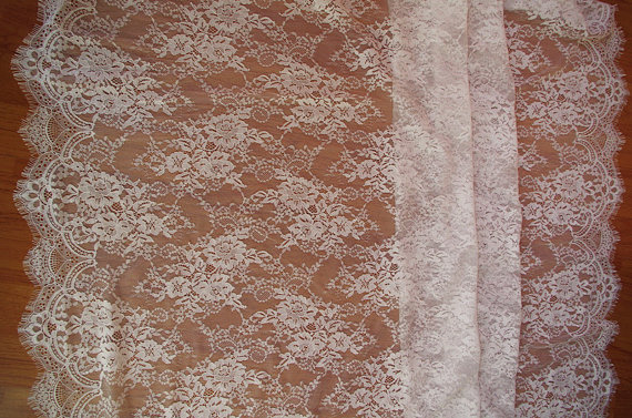 3 meters off white chantilly eyelash lace fabric font b bridal b font lace fabric french