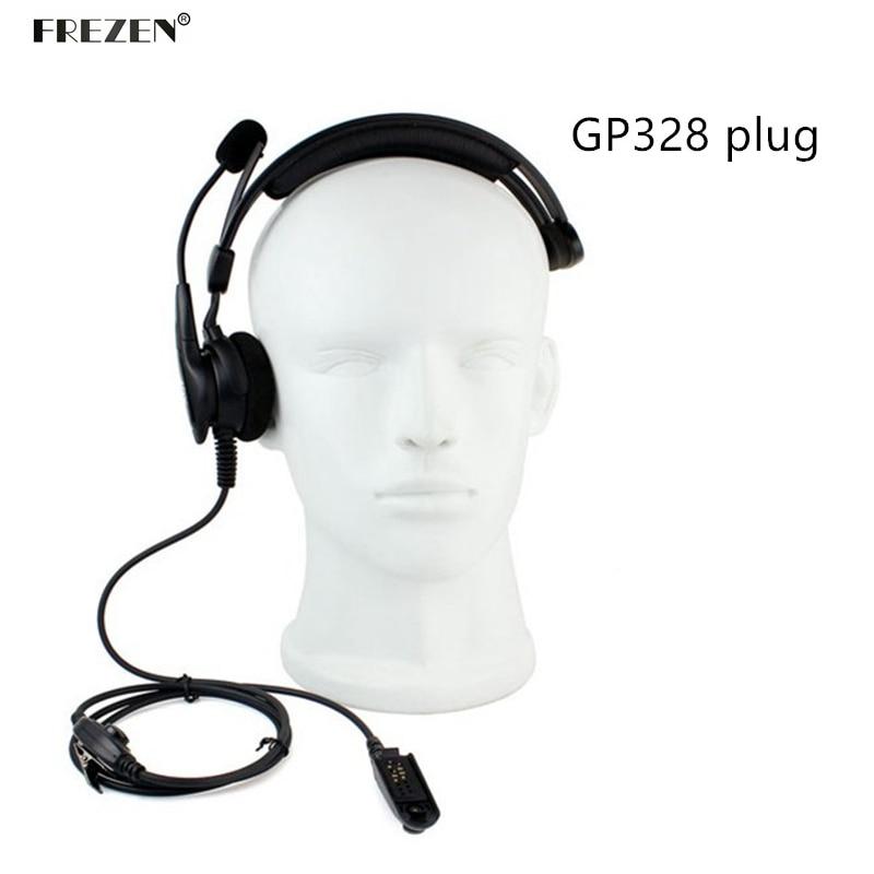 Adjustable Overhead Headset Mic Microphone Noise Cancelling Headphones For Motorola Two Way Radio HT750 HT1250 GP328 GP329 GP340