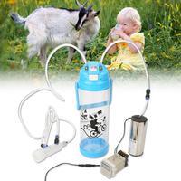 3L Double Head Vacuum Pump Electric Milking Machine Portable Milk Bucket For Cattle Sheep Cow Coat Milker US Plug 110V 240V