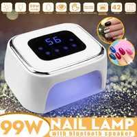 bluetooth Speaker 99W LED UV Nail Lamp Light Polish Gel Dryer Curing Machine Fashion Nail Art Tools Drying All Gels Nail Polish