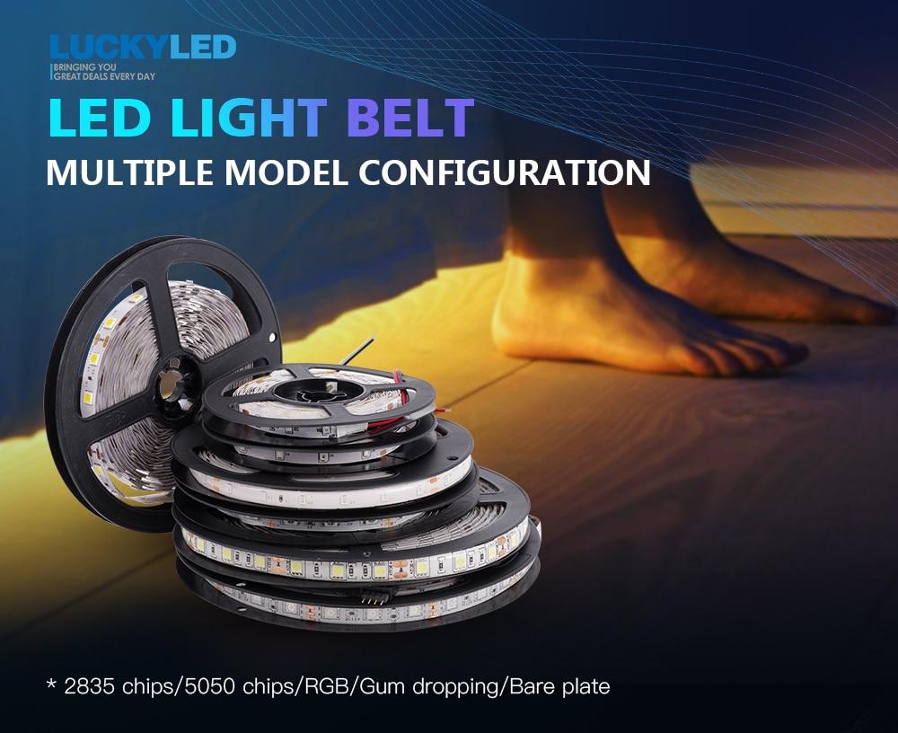 HTB19VM9binrK1Rjy1Xcq6yeDVXaG LUCKYLED 5M LED Strip 12v RGB Waterproof 5050 2835 SMD Diode RGB Tape Ribbon Flexible LED Light Strip 60leds/m LED Stripe