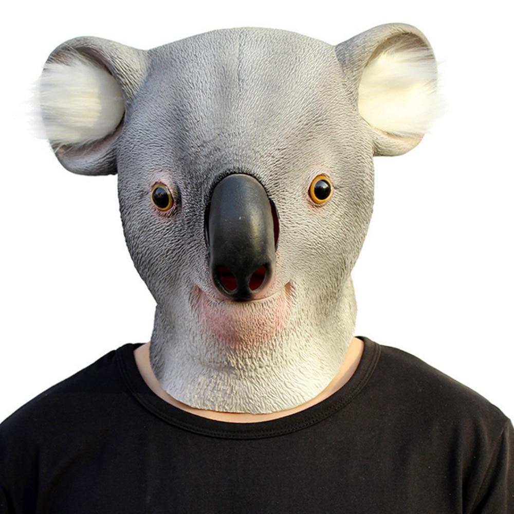 Latex Animal Party Mask Koala Full Face Adult Cosplay Mask ...