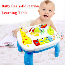 Multi-function Music Table Baby Toys Early Learning Educational Table Toys Musical Instrument for Children Christmas Gift(China)