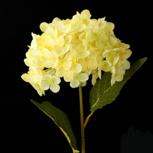 Buy yellow hydrangea and get free shipping on aliexpress artificial flowers hydrangea flower home party decoration accessories pink blue white yellow etcchina mightylinksfo