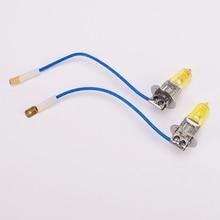 цена на 2 pcs H3 12V 100W Golden Yellow Car Fog Light Bulbs 3000K Halogen