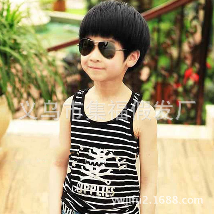 Boy Child Wig BOBO Bobs Performance Photography Is Free Shipping - Japanese baby boy hairstyle