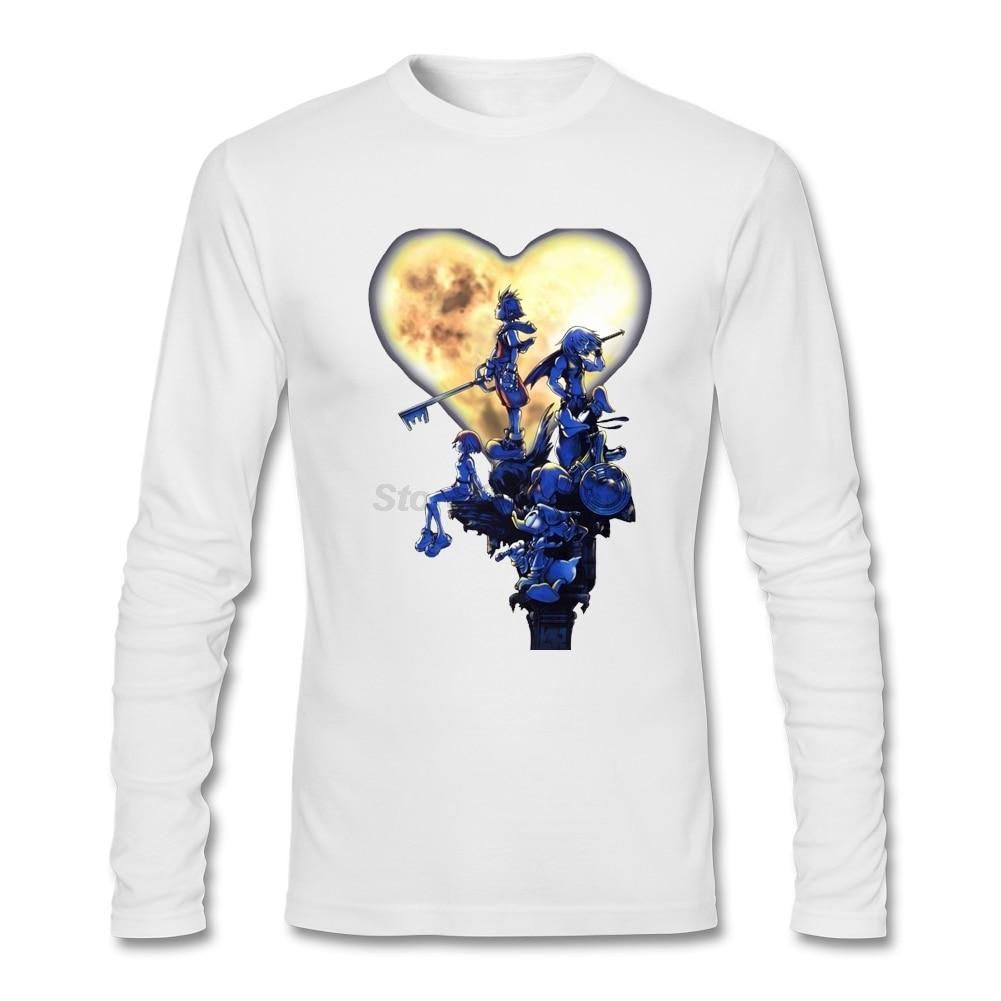 Men's GF Unique Shirts men Kingdom Hearts Long Sleeve PS2 Games Quilt Shirt Daily Wear Costumes - intl