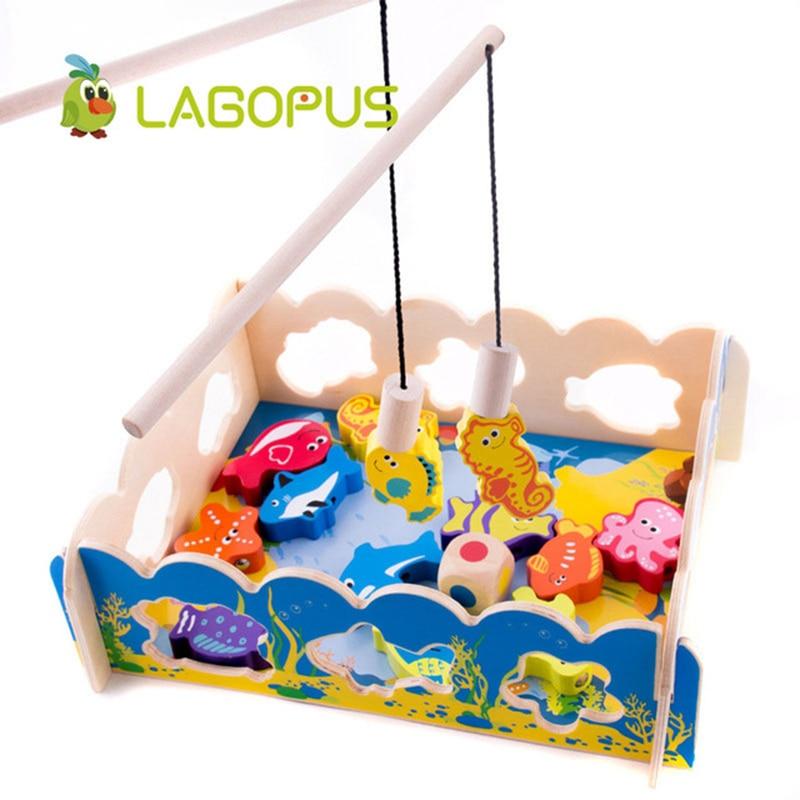 Lagopus jouets en bois Puzzle petite enfance infantile couleur pêche perlée jeu voiture modèles voitures