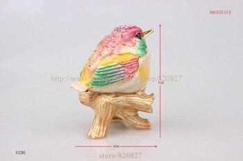 Small Metal Box | Brid Trinket Box Bird On Branch Jeweled Crystal Keepsake Box Pewter Bejeweled Bird Trinket Small Box Birds Jewelry Ring Box
