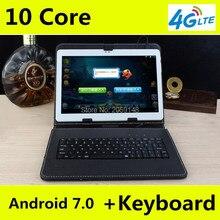 """2017 Más Nuevo Libre de DHL 10 pulgadas Tablet PC 4G LTE Deca Núcleo 4 GB RAM 128 GB ROM Android 7.0 IPS GPS WCDMA 3G/4G de la Tableta de 10.1 """"+ regalos"""