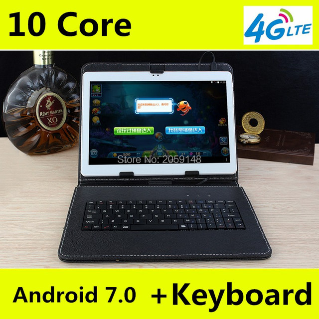 """2017 Newest DHL Free 10 inch Tablet PC 4G LTE Deca Core 4GB RAM 128GB ROM Android 7.0 IPS GPS  WCDMA 3G/4G Tablet 10.1"""" +Gifts"""