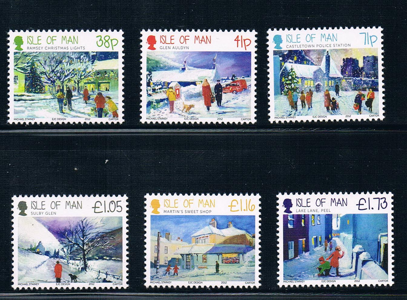 GB0360 of the Isle of man 2012 Christmas stamps 6 new 1206 dogs from 2012 ea1420 1ms new 0626 coastal bird stamps