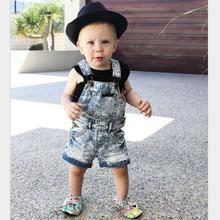 2019 letnie ubrania dla niemowląt spodnie dla niemowląt kombinezon dla niemowląt kombinezony dżinsowe dla chłopców spodenki jeansowe denim ogólnie tanie tanio Dzieci COTTON spandex Chłopcy Przycisk fly Patchwork Proste Pasuje prawda na wymiar weź swój normalny rozmiar SHENGMEIHAO