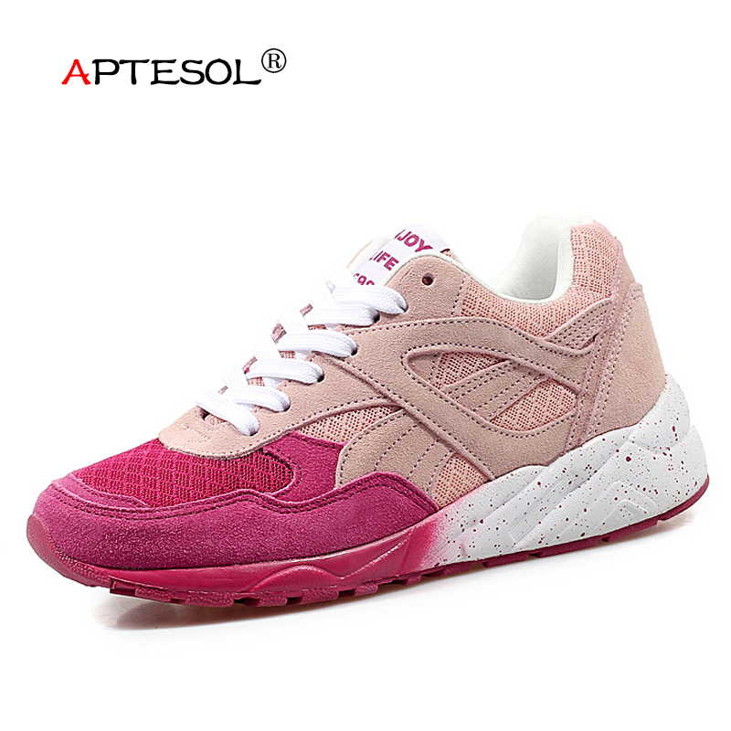 APTESOL Air Mesh Running Shoes For Women Outdoor Sport Sneakers Jogging Shoes Breathable Lightweight Soft Athletic Walking Shoes women summer running shoes outdoor sport breathable running shoes mesh female walking camping shoes