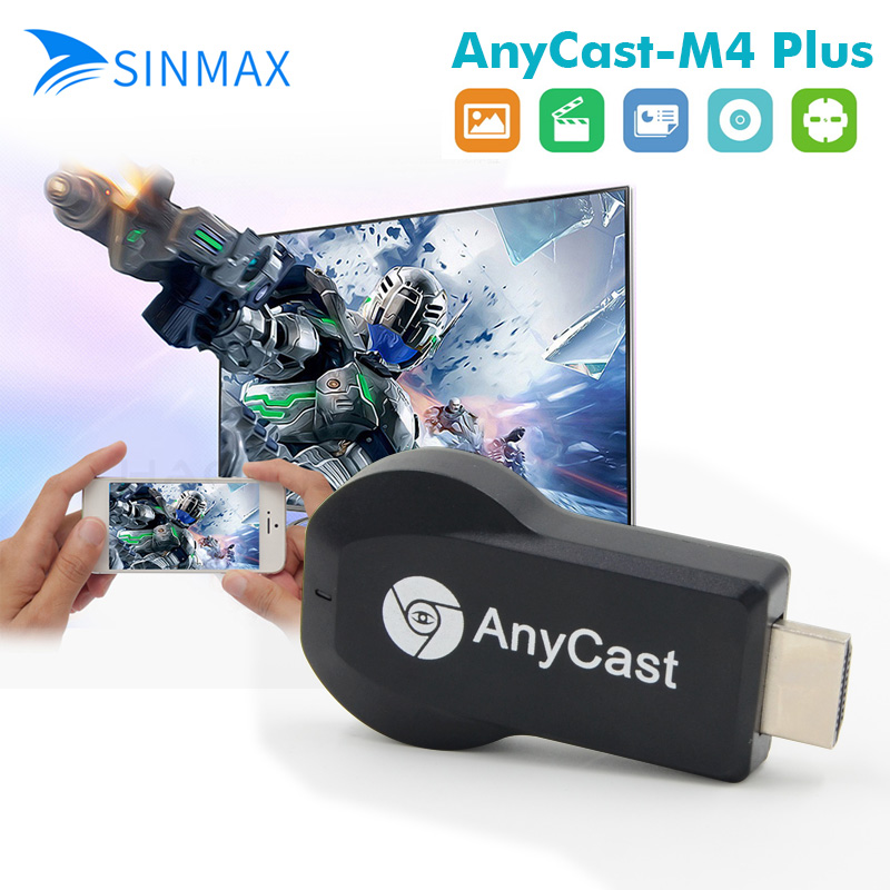 2018 new Anycast Wireless HDMI 1080P Dongle Media TV Stick Display Receiver Chromecast RK3036 Support Wifi Miracast Airplay DLNA