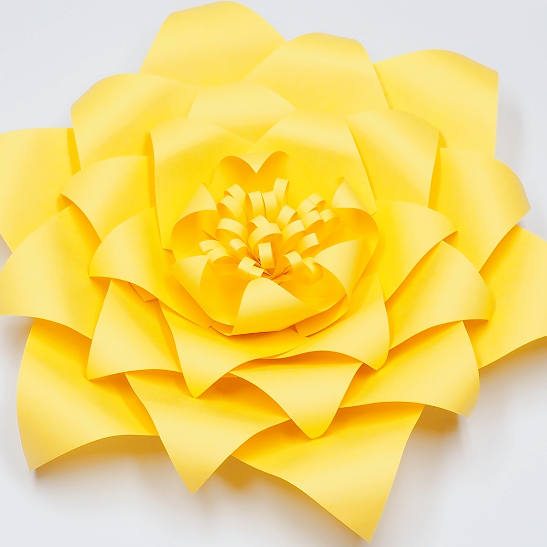 Us 36 8 20 Off Ready Giant Paper Rose Flower Templates With Tutorial For Wedding Backdrop Baby Nursery Fashion Trade Show With Leaves In Artificial