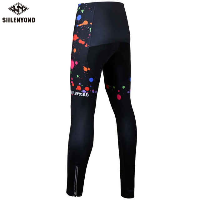 Siilenyond 2019 Women Winter Keep Warm Cycling Pants Thermal Fleece MTB Bike Cycling Trousers With Coolmax 3D Gel Padded 1