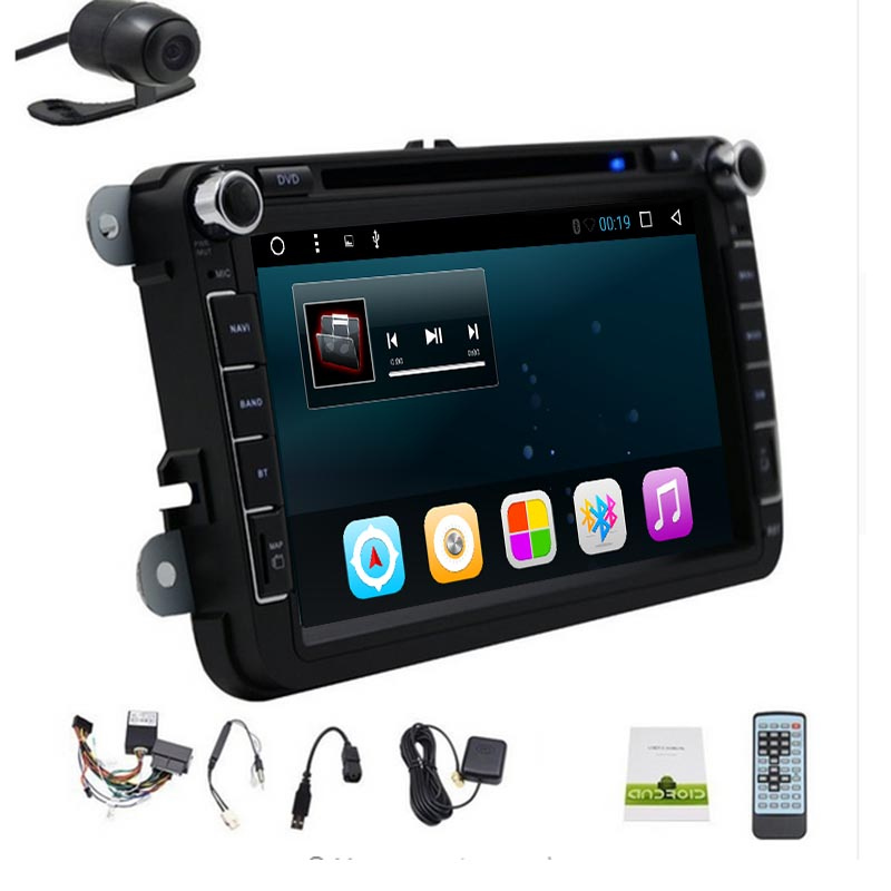 2G RAM 2din android 9.08''car dvd for vw passat b6 <font><b>golf</b></font> 4 <font><b>5</b></font> tiguan polo skoda octavia with steering wheel control radio gps WIFI image