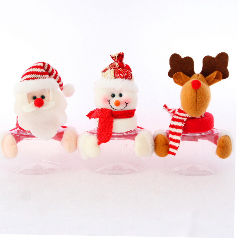 Merry Christmas Gift Holder Candy Jars Container Christmas Decorations for Home Party New Year christmas ornaments