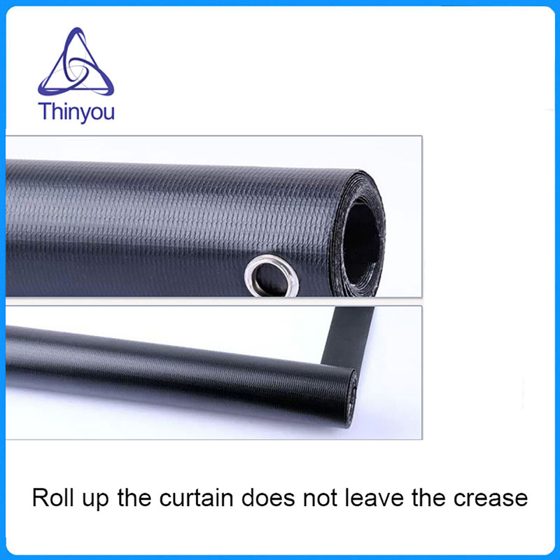 Thinyou 72 inch 16:9 Wall Mounted Projection Screen Curtain for Slides Movies for LED DLP Home projector pantalla proyector