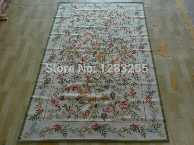 100% wool 2014 Limited Sale Freeshipping Rugs And Carpets Alfombra Carpet Hand-stitched Needlepoint Rug 2066 1.5x2.4m Carpets