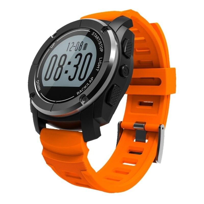 Haweel GPS montre-bracelet intelligente avec moniteur de fréquence cardiaque Version de mise à niveau GPS Sport montre intelligente pour IOS 8 + Android 4.3 + Smartphone