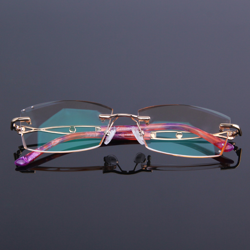 Sehen Der Nähe Anti Rahmen Legierung Leser Von In Neue Reflektierende Frauen Lesebrille Für Randlose Strass Brillen Presbyopie 7qIwZT06A