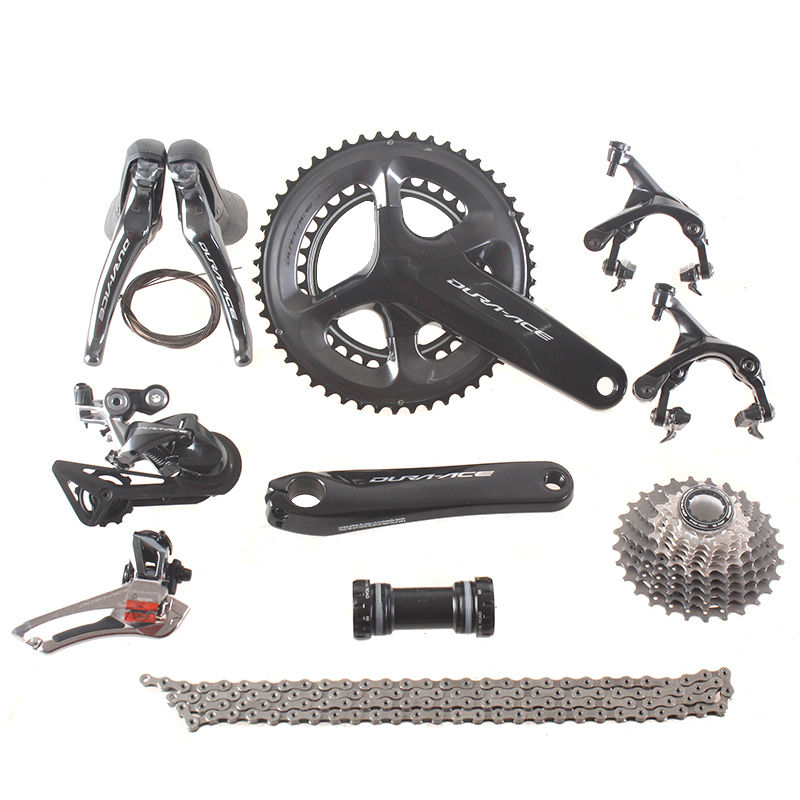цена на Shimano DURA ACE 9100 R9100 2x11 Speed 53x39T 50x34T 52x36T 170 172.5mm Groupset  Kit for Road Bike Bicycle
