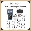 Mst-100p / MST100P / MST 100 P 8 em 1 ferramenta de Scanner de diagnóstico para SYM motocicleta / YAMAHA / SUZUKI / Hartford / Honda frete grátis DHL