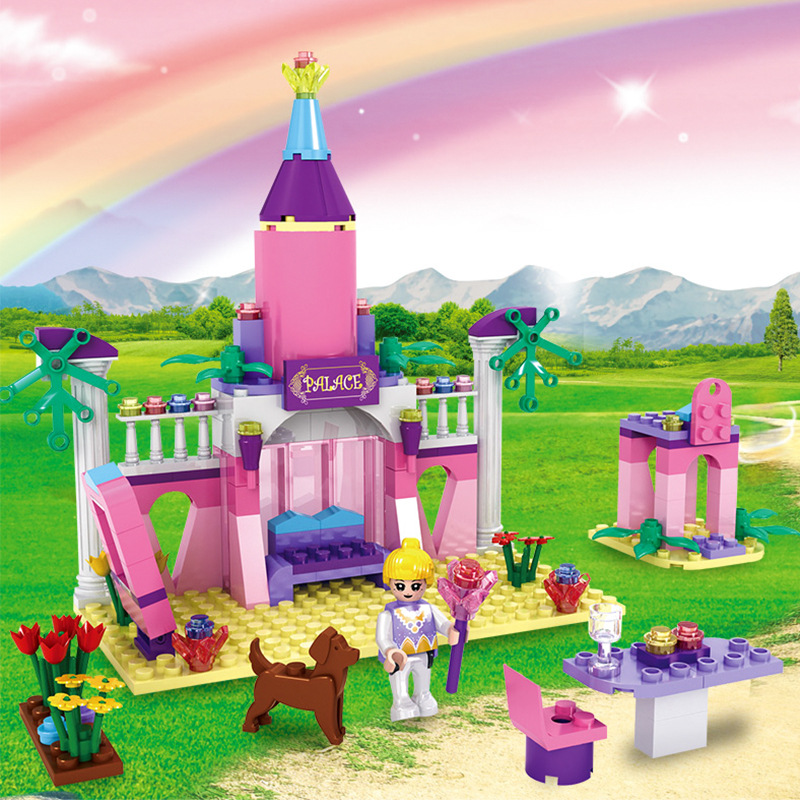 7-Style-Kids-Dream-Princess-and-Prince-Pink-Palace-Castle-Set-Model-Building-Blocks-Compatible-With-Lego-Gifts-child-Toys-4