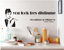 Audrey Hepburn Wall Decal Classic Hepburn Wall Sticker For Kitchen Cooking  Room Restaurant Wall Art Vinyl Part 58