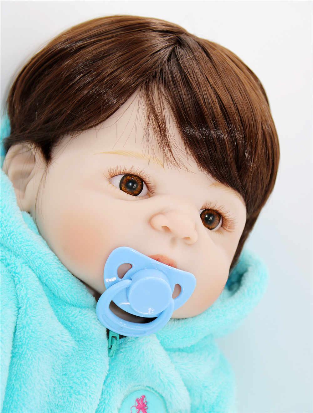 """Реального живого 55 см возрождается куклы младенца мальчик полный силиконовые bebe Reborn кукла реалистичные для новорожденных 24 """"дети playmates bjd lol"""