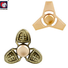 BD,Fingertip Gyro Decompression,Fidget spinner,Hand Spinner metal,Clover golden EDC Tool,Anxiety Stress Relief,parts,Toys(China)