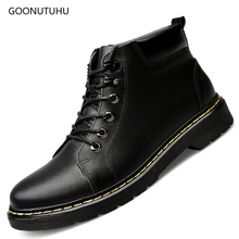 2019 new autumn & winter Men's boots military genuine leather cow casual work shoes black ankle boot shoe man army boots for men цены онлайн
